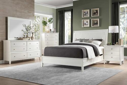Cotterill Bedroom Set - White Finish over Birch Veneer