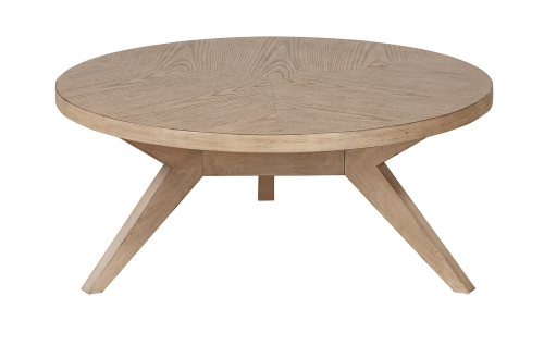 Liatris Round Cocktail/Coffee Table - Natural Gray