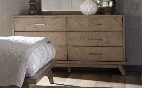Liatris Dresser - Acacia Veneer with Gray Undertone