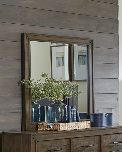 Griffon Mirror - Antique Brown