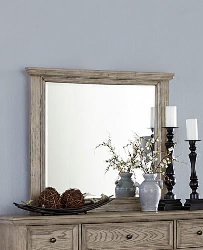 Barbour Mirror - Whitewash Finish over Oak Veneers