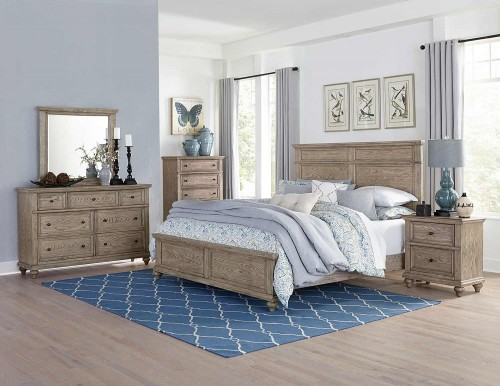 Barbour Bedroom Set - Whitewash