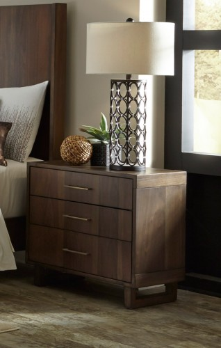 Gulfton Night Stand - Walnut