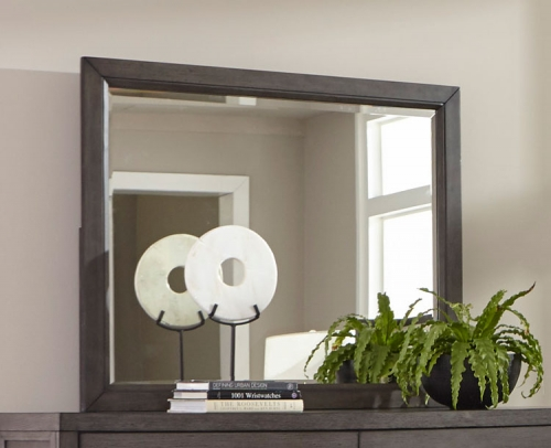 Fondren Mirror - Dark Gray/Brown