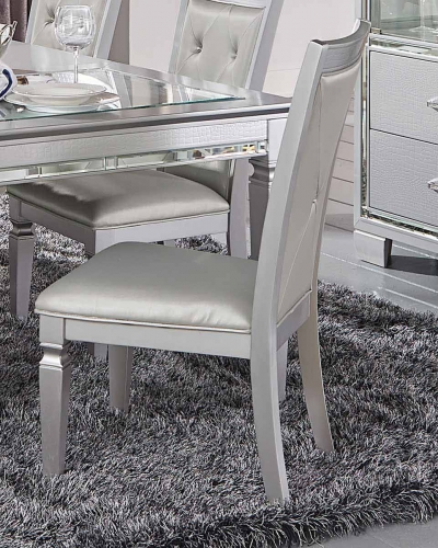 Allura Side Chair - Silver