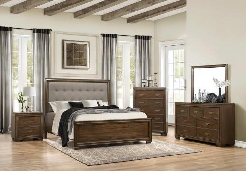 Leavitt Bedroom Set - Brown Cherry