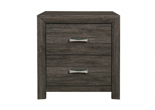 Edina Night Stand - Brown-Gray