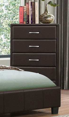 Lorenzi Chest - Dark Brown Vinyl