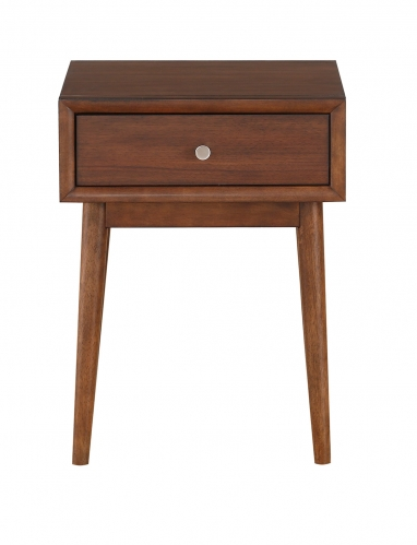 Frolic End Table with Functional Drawer - Brown