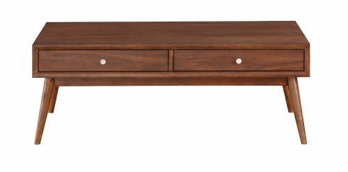 Frolic Cocktail/Coffee Table with Two Functional Drawers - Brown