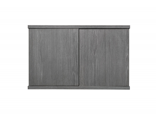 Homelegance Dogue Cabinet for Bookcase - Gunmetal - Gray