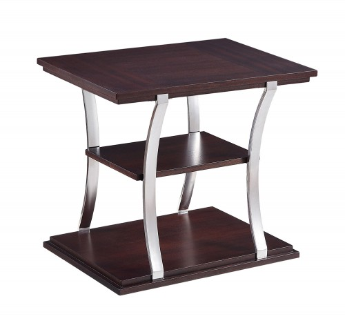 Bevan End Table - Dark Cherry