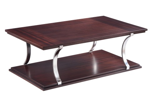 Bevan Cocktail Table - Dark Cherry
