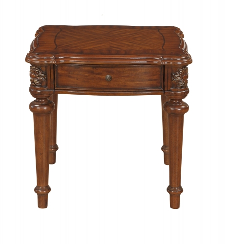 Barbary End Table with Functional Drawer - Cherry