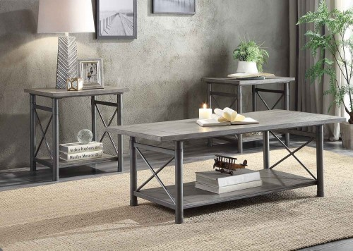 Laurel Hill 3 Piece Occasional Table Set - Gray
