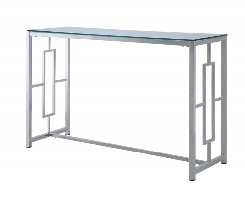 Yesenia Sofa Table with Glass Top - Chrome