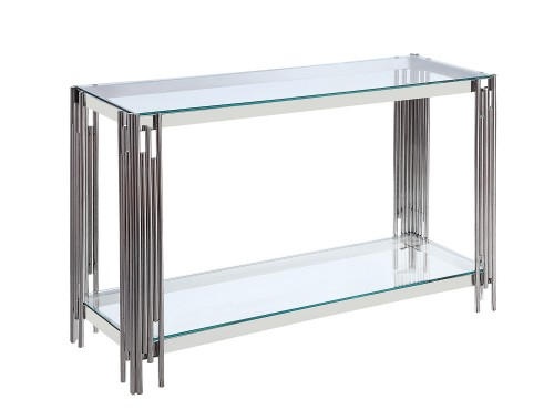 Porfirio Sofa Table with Glass Top