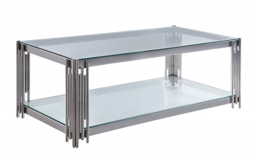 Porfirio Cocktail Table with Glass Top