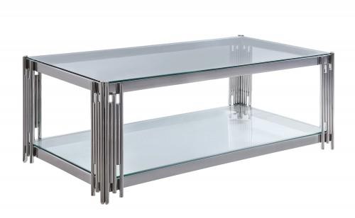 Porfirio Cocktail Table with Glass Top