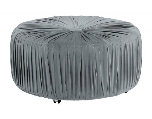 Jaunt Round Ottoman - Gray
