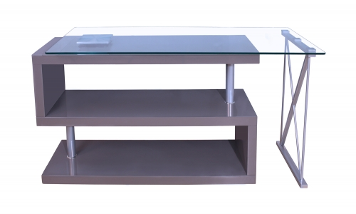 Netto Writing Desk - Gray High Gloss