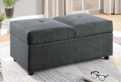Denby Storage Ottoman/Chair - Gray