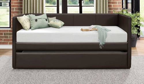 Adra Daybed with Trundle - Dark Brown