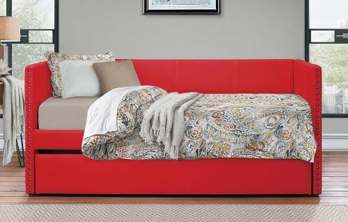 Therese Daybed with Trundle - Red
