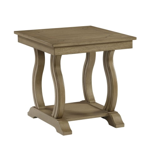 Vermillion End Table - Bisque