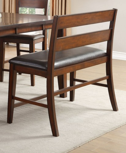 Mantello Counter Height Bench with Back - Cherry