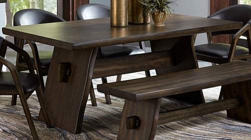 Cabezon Dining Table - Rustic Brown