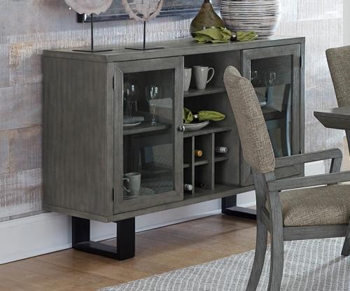 Avenhorn Server With Glass Door - Gray