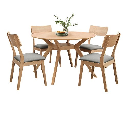 Hamar Round Dining Set - Natural