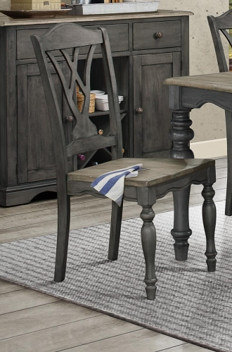 Hyacinth Side Chair - Oak Wash and Gray