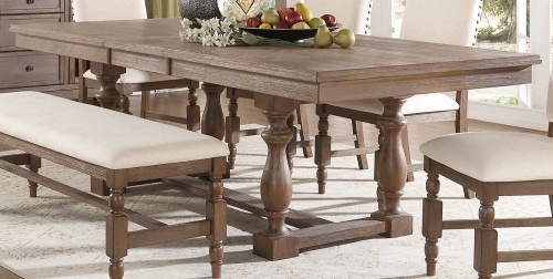 Chartreaux Dining Table - Natural Taupe - Oak veneer