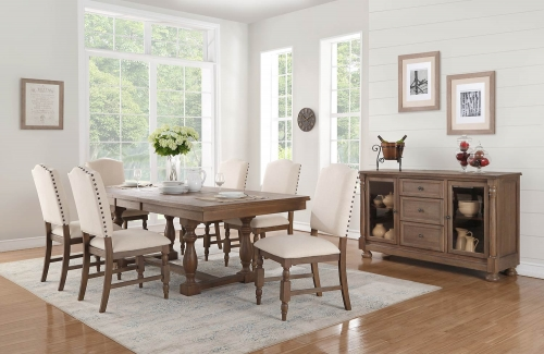 Chartreaux Dining Set - Natural Taupe - Oak veneer