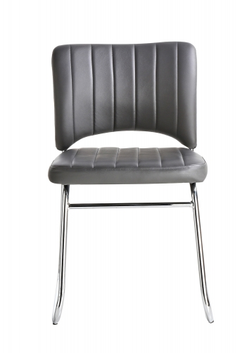 Chromis Side Chair - Grey - Grey Bi-Cast Vinyl
