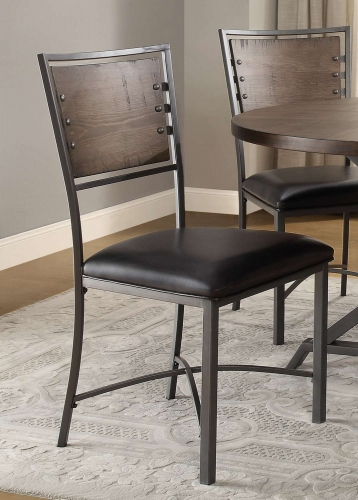 Fideo Side Chair - Rustic - Gray Metal