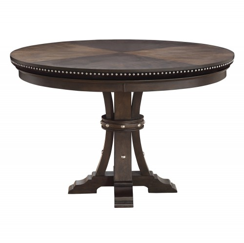 Ante Round Dining/Game Table - Dark Brown