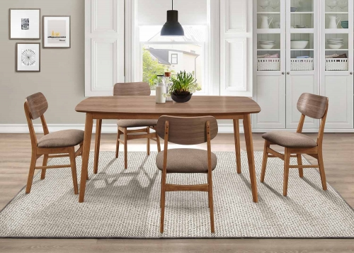 Paran Dining Set - Natural Walnut