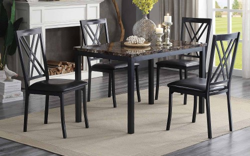 Waite Dining Set - Faux Marble Top
