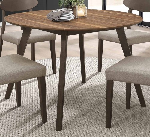 Beane Round Dining Table - Walnut 2-Tone