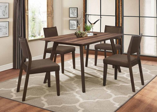 Steer Dining Set - Walnut 2-Tone