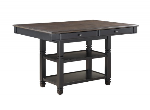 Baywater Counter Height Dining Table - Black -Natural