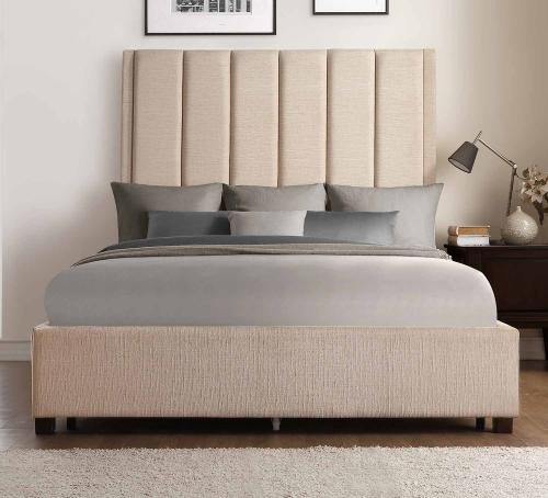 Neunan Platform Bed - Beige