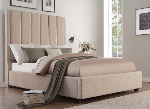 Neunan Platform Storage Bed - Beige