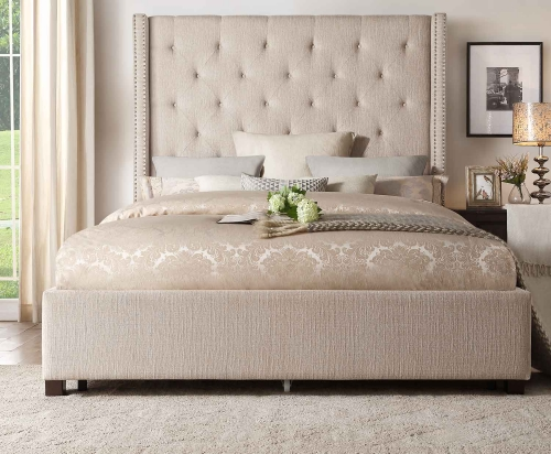Fairborn Platform Bed - Beige