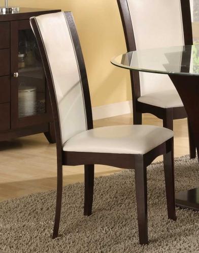 Daisy Side Chair in White Bi-cast Vinyl