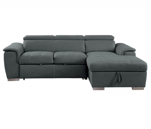 Ferriday Sectional with Pull-out Bed and Hidden Storage - Gray