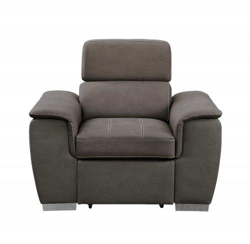 Ferriday Chair with Pull-out Ottoman - Taupe